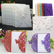 10pc Butterfly Wedding Invitation Cards Wedding Birthday Shower Party Decoration