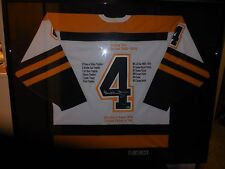bobby orr autographed  jersey framed and matted by steiner only one on ebay