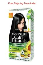 Garnier Color Natural Black 1, 70 ml and 60 gm Pack with Gloves Free Shipping