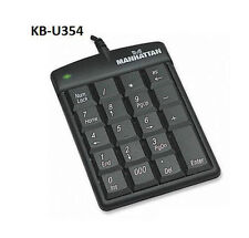 USB Ultra Slim Numeric Keypad 19-Keys, Manhattan 176354