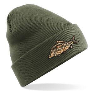 CARP Fishing Embroidered Beanie Hat - Common/Mirror/Specimen Logo