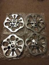 """4) 18"""" Rare Wheel Spinner Floater Floating Center Wheels chrome alloy universal"""