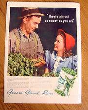 1940 Jolly Green Giant Ad Sweet Peas 1940 Signet Whiskey Ad Big News 1890 1940