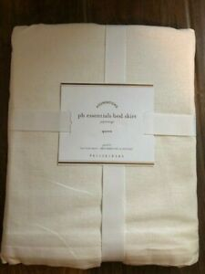 POTTERY BARN ESSENTIAL BED SKIRT, QUEEN SIZE-14 INCH DROP, NWT