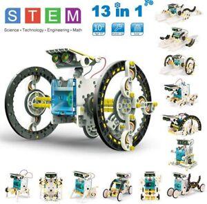 STEM 13 in 1 Solar Robot Kit DIY Learning Science Educational Experiment ToySet