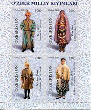 Uzbekistan 2016 National Costumes Traditional Dress 4v M/S Cultures Stamps