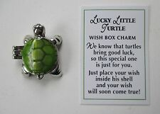 p Lucky Little Turtle Wish box Pocket Charm good luck locket figurine Ganz