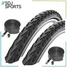 """2x Schwalbe Landcruiser 26 X 1.75"""" Mountain Bike Tyres Tires & Schrader Tubes"""