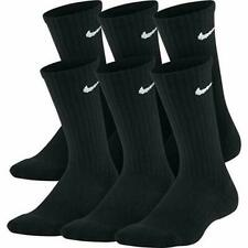 Nike Everyday Cotton Cushioned Crew Socks Black 6 Pair DRI-FIT Large Pack Men 67