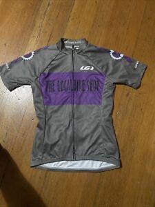 Louis Garneau Cycling Jersey Womens Small The Local Bike Shop Gray/Purple