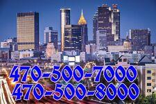 470 vanity Easy phone number (470)X00-Y000 UNIQUE  AWESOME NUMBER ATLANTA GA