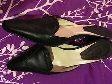 7e163e4ce89 Tods Mule Shoes Sz. 8.5 Made In Italy Black Leather Womens