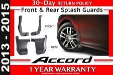 2013- 2015 Honda ACCORD SEDAN Genuine Splash Guard Front & Rear  (08P00-T2A-101)