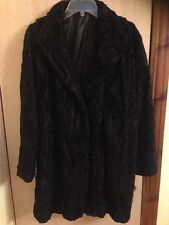 Vintage Black Persian Lamb Fur Coat Fully Lined Size 12