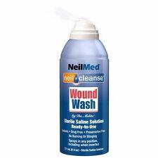 BEST PRICE! NEILMED NEIL CLEANSE WOUND WASH STERILE SALINE SOLUTION 177ML