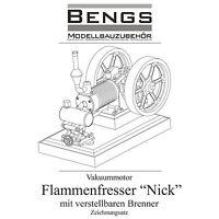 """Bauplan Flammenfresser """"Nick"""" mit Brenner und ausführlicher Bauanleitung"""