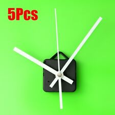 5Pcs DIY White Hands Wall Quartz Clock Movement Mechanism Repair Tools Kit Gift