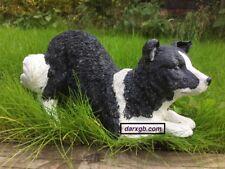 Classic Sheep Dog Border Collie Resin Outdoor Garden Ornament / Statue