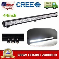"44"" Inch 288W Driving OFFROAD 4WD SUV Bumper LED Work Light Bar Combo Ford ATV"