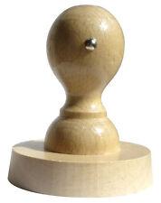 Stempelplatte auf Wunsch mit Kissen Colop M1 NEU SET Holzstempel 15mm Rund inkl