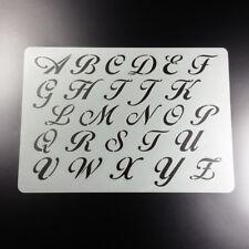 A4 Schablone Alphabet Buchstaben Satz A - Z Groß - BF417