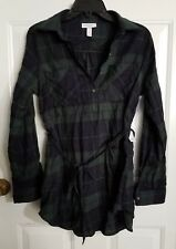 239fb2a202439 Liz Lange Maternity Green and Navy Plaid Tunic - Small
