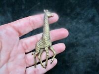 Vintage-1980's Pewter Gold Tone Giraffe Brooch/Pin