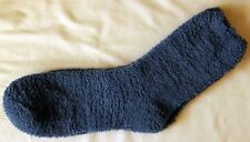 Socks Dark Blue Super Fluffy Warm Cozy Fuzzy, Long Crew Size: 9-11