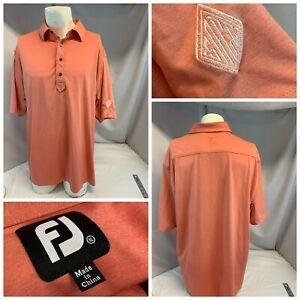 FootJoy Golf Polo Shirt XL Men Orange Poly Spandex SACC LNWOT YGI I1-293
