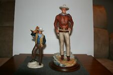 JOHN WAYNE PORCELAIN FIGURINE COLLECTION VERY VERY VERY EXCELLENT