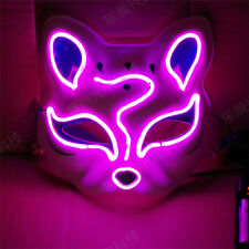 Halloween Cosplay Mask LED Glow Wire Light Up Fox Mask Party Personalized COS