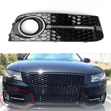 RH Chrome Honey Comb Fog Light Cover Grille Grills For Audi A4 B8 2009-2012 UE