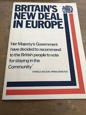 "More details for vintage-1975 political memorabilia- ""britain's new deal in europe"" harold wilson"