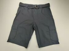 Red Rhino Men's 34x11 Black Cargo Shorts with Belt Casual Shorts