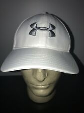 Under Armour Golf White L-Xl Fitted Trucker Hat Baseball Cap Lid