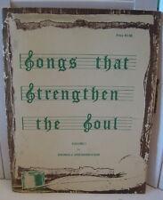 Songs That Strengthen The Soul Vol I Thomas Knickerbocker 1985 Paperback