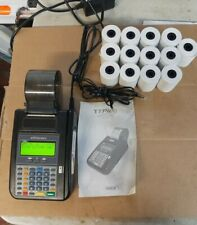 Hypercom T7Plus Credit Card Terminal with Power Cable, guide, paper Works!