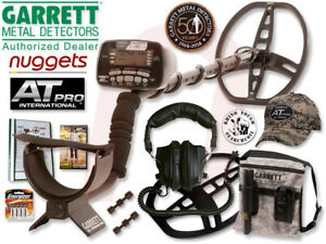 GARRETT AT PRO wasserdichter Profi Metalldetektor nuggets24de +Camo CAP+Tasche++