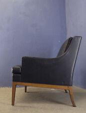 VINTAGE metà del secolo moderno Danese 1960 MOGENSEN stile TEAK in cuoio poltrona #4