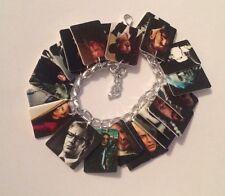 Alan Rickman Tribute Loaded Bracelet Handmade Plastic Charms Severus Snape