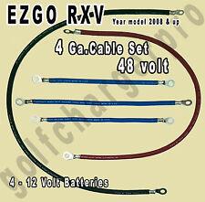 EZGO RXV 4 Gauge HEAVY DUTY 48 Volt Battery Cables Set