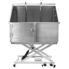 Flying Pig® Stainless Steel Electric Hydraulic Lift Pet Dog Bath Grooming Tub