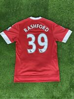 Manchester United Shirt 2015/16 Rashford #39 Home Shirt PL Badges Size Small