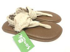 7bd95aacae5 Sanuk Yoga Sling 2 Prints Flip Flop Sandal 1019795 Natural Shibori Stripes  Women
