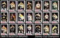 1969 1970 BOSTON BRUINS Stanley Cup Champions Team Poster Decor Birthday Gift 70