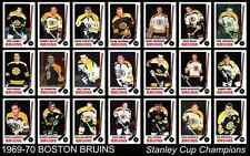 1969 1970 Boston Bruins Stanley Cup Hockey Card Poster 17x11 Unique Art Decor