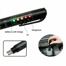 Universal Car Brake Fluid Oil Liquid Tester 5 LED Testing Pen Diagnostic Tool US