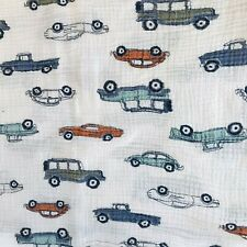 Aden + Anais Pickup Trucks Sports Cars 42 x 40 Cotton Gauze Baby Swaddle Blanket