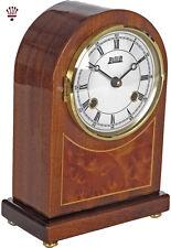 BilliB Rosewood Mantel Clock with Piano Finish, Single Chime in Mahogany