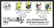 1980 BIRDS SET OF 4 ON PPS OFFICIAL FDC WITH 51ST YEAR BIRMINGHAM SP/HS